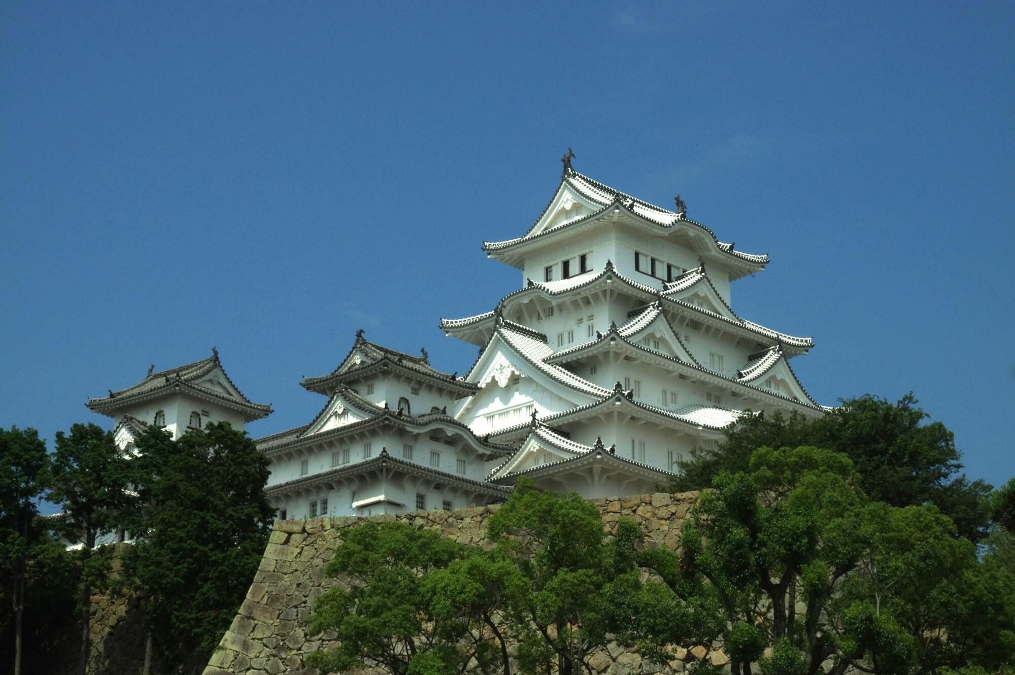 兵庫県にある姫路城の画像