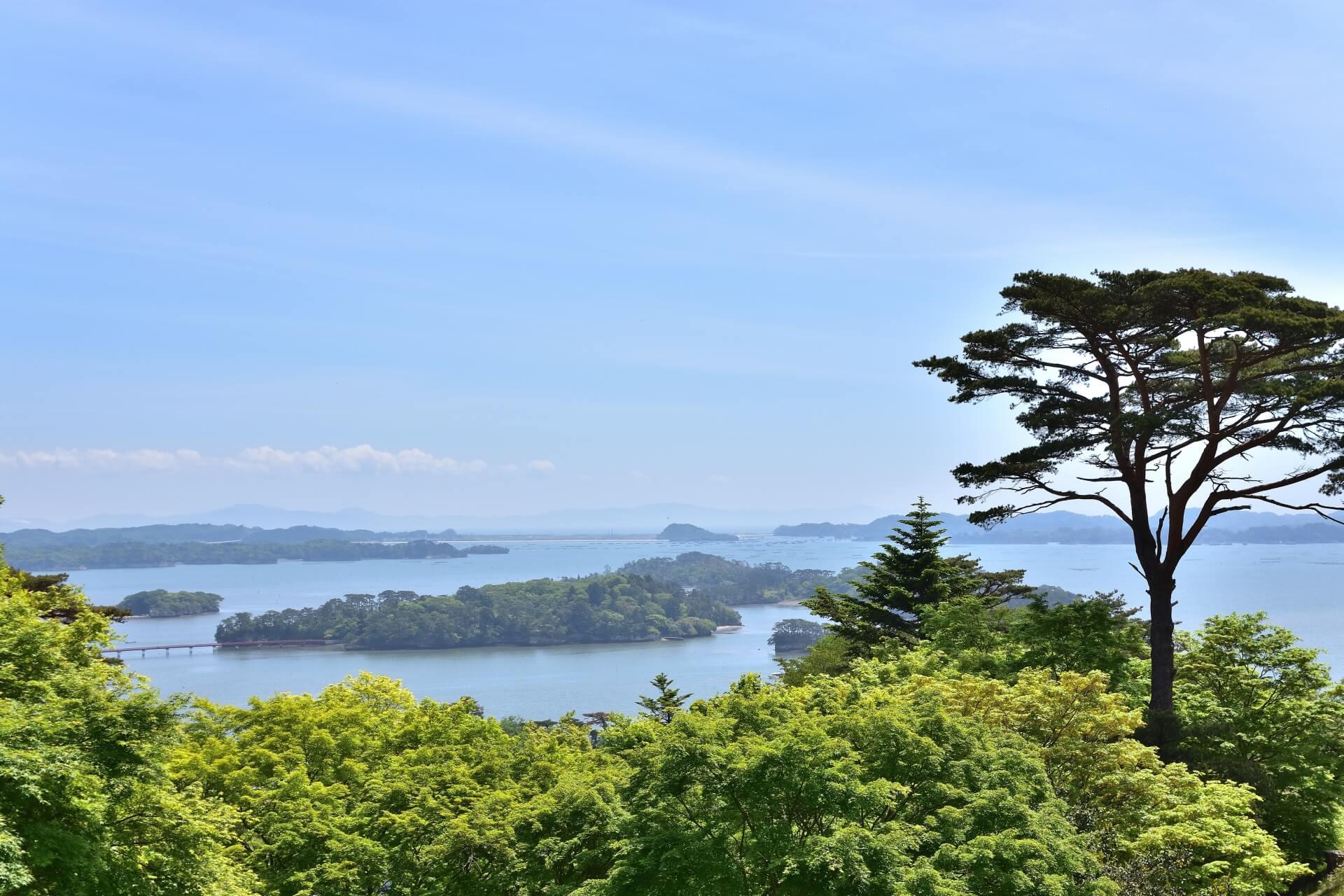 宮城県日本三景の松島の画像