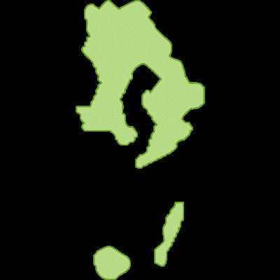 さつま地鶏の産地鹿児島県のイラスト