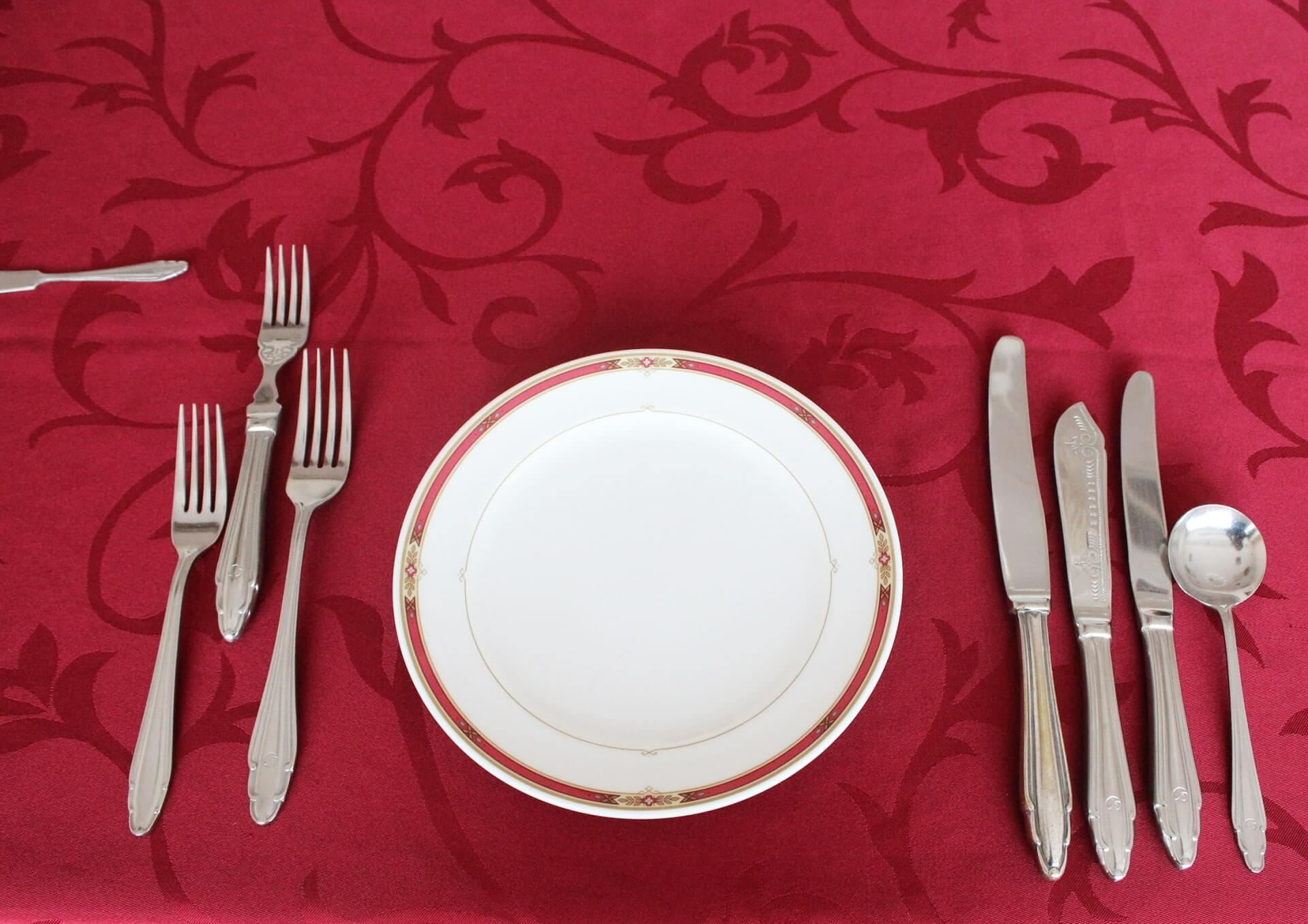テーブルマナーのカトラリー(食器)の種類の画像